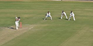 Batsman Shot the ball for boundary  during Ranji Trophy Cric Royalty Free Stock Photo