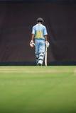 A batsman walking Royalty Free Stock Image