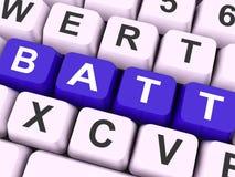 Batt锁上展示电池或电池充电 向量例证