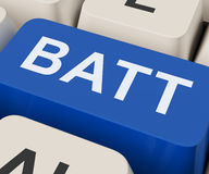 Batt Key Shows Battery Or Batteries Recharge Royalty Free Stock Image