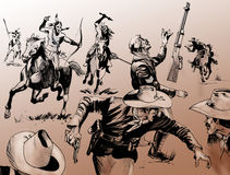 Battaglia ad ovest lontana Fotografia Stock Libera da Diritti