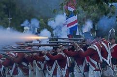 Battaglia britannica di notte Immagini Stock Libere da Diritti