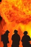 Battaglia con il fuoco Fotografia Stock