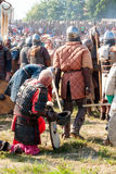 Battaglia degli slavi e di Vichingo Fotografia Stock