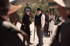 Battaglia dei cowboy in via Immagini Stock Libere da Diritti