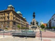 Battaglia del monumento di Grunwald a Cracovia, Polonia Immagini Stock