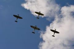 Battaglia della Gran-Bretagna 75 spitfire di anniversario quattro Fotografie Stock Libere da Diritti
