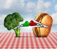 Battaglia di dieta illustrazione vettoriale