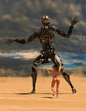 Battaglia di fantasia della fantascienza, guerra immagine stock