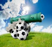 Battaglia di gioco del calcio Fotografia Stock Libera da Diritti