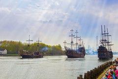 Battaglia di mare Fotografie Stock