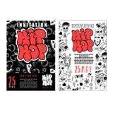 Battaglia di rap, musica del hip-hop di concerto Progettazione del modello di vettore, aletta di filatoio, manifesto, opuscolo, l illustrazione vettoriale