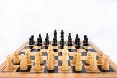 Battaglia di scacchi Fotografia Stock Libera da Diritti