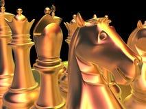 Battaglia di scacchi Immagine Stock