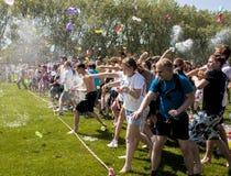 Battaglia epica del baloon dell'acqua Immagine Stock Libera da Diritti