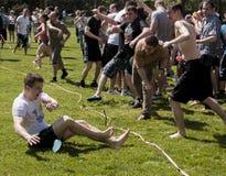 Battaglia epica del pallone di acqua Fotografie Stock
