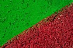 Battaglia fra Grean e colore rosso Immagine Stock