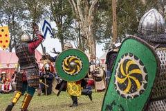 Battaglia medievale di festival di Caboolture immagine stock