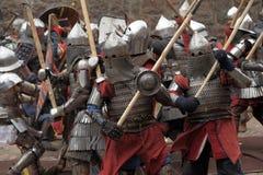 Battaglia medioevale Immagine Stock