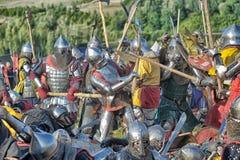 Battaglia medioevale Immagine Stock Libera da Diritti
