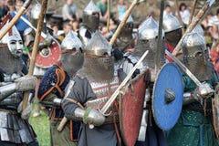 Battaglia medioevale Fotografia Stock