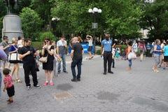 Battaglia NYC 2016 1 della bolla fotografia stock