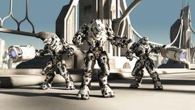 Battaglia straniera Droids illustrazione vettoriale