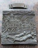 Battaglie per proteggere la città dagli invasori nazisti il 3-4 dicembre 1941 Città del ` di Stela del ` militare di gloria in El immagine stock libera da diritti
