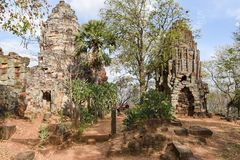 Phnom Banan temple at Battambang on Cambodia. Battambang, Cambodia -14 January 2018: Phnom Banan temple at Battambang on Cambodia Stock Image