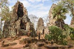 Phnom Banan temple at Battambang on Cambodia. Battambang, Cambodia -14 January 2018: Phnom Banan temple at Battambang on Cambodia Stock Photography