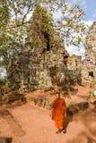 Phnom Banan temple at Battambang on Cambodia. Battambang, Cambodia -14 January 2018: Phnom Banan temple at Battambang on Cambodia Stock Images