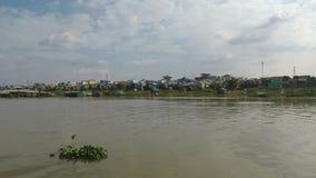 Battambang Province, Cambodia - Circa March 2018: boat Trip from Siem Reap to Phnom Penh. Battambang Province, Cambodia - Circa March 2018: boat Trip Siem Reap stock footage