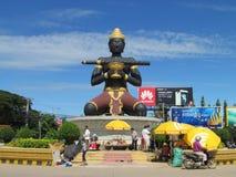 Battambang staty Kambodja royaltyfria bilder