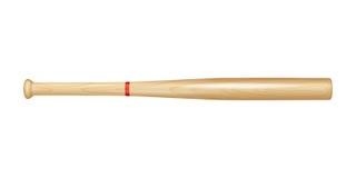 Batte de baseball en bois illustration stock