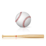 Batte de baseball et base-ball Photo libre de droits