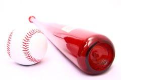 Batte de baseball et bille Photographie stock libre de droits