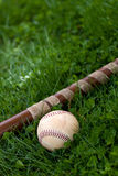 Batte de baseball et bille Photo libre de droits