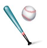 Batte de baseball et bille illustration stock