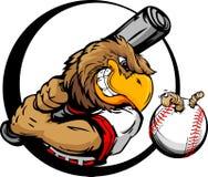 Batte de baseball tôt de fixation de joueur de baseball d'oiseau Image stock