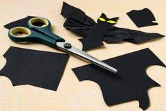 Batte de coupe hors de papier noir Images libres de droits