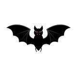 Batte de vol de Halloween d'isolement sur le fond blanc Image stock