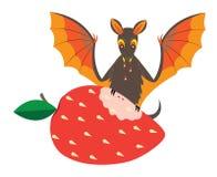 Batte et fraise Image stock