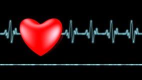 Battement de coeur d'Ecg Images stock