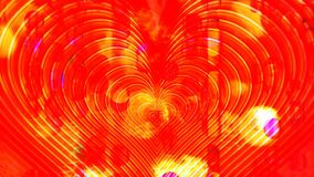Battement de coeur d'or parmi des fusées de lumières clips vidéos