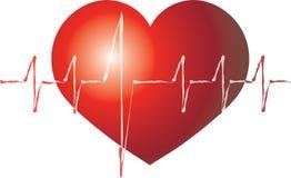 battement de coeur de coeur d'isolement Photos libres de droits