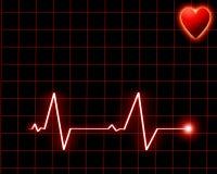 Battement de coeur sur le moniteur Photographie stock libre de droits