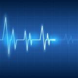 Battements de coeur sur des soins de santé et le vecteur abstrait médical de fond Images stock