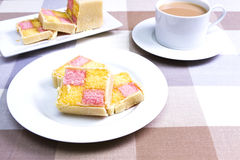 Battenberg cake Stock Images