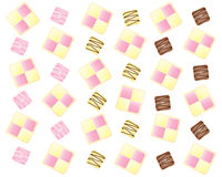 Battenburg cake design Royalty Free Stock Photos
