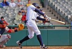 batter бейсбола соединяет несовершеннолетнего лиги Стоковое Изображение